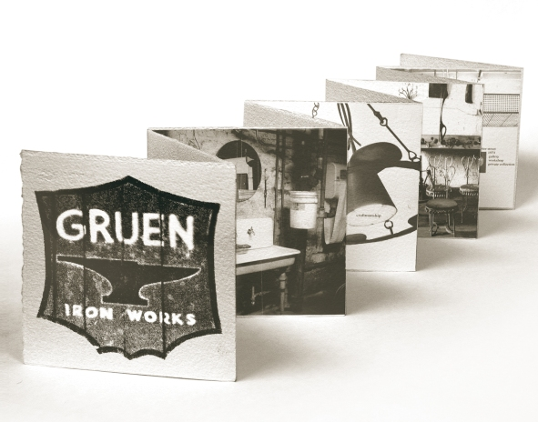 Gruen Iron Works | Acetone Transfer & Letterpress on Paper