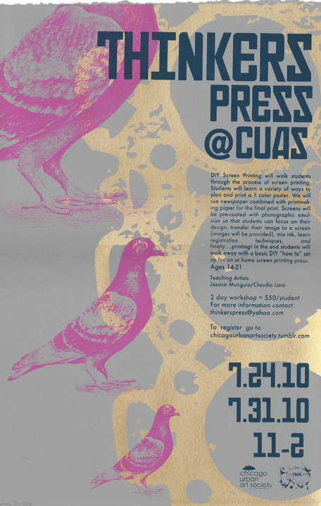 Chicago Urban Art Society & Thinkers Press|Poster