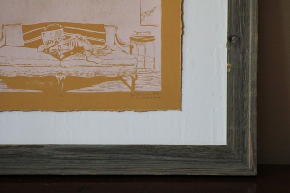 Atticus/Mail Art | Linoleum Print on Paper