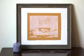 Atticus/Mail Art   Linoleum Print on Paper