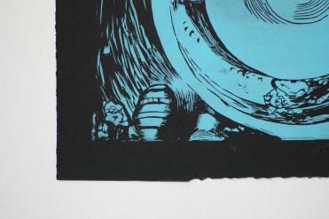 Emily/Mail Art | Linoleum Print on Paper