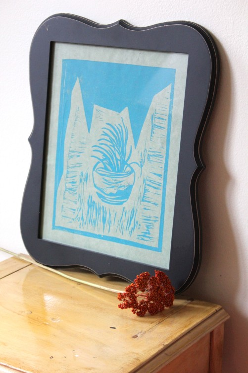 Air | Linoleum Print on Paper