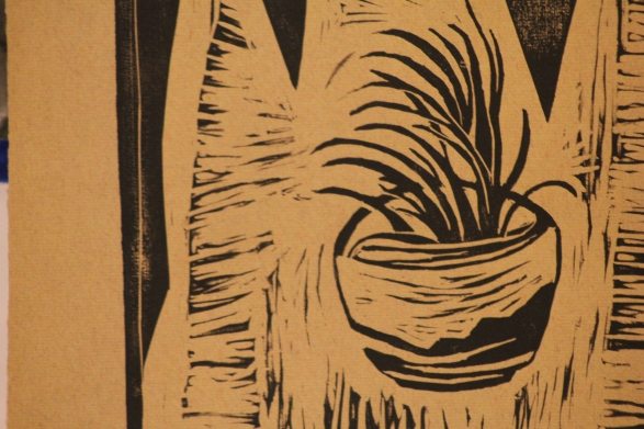 Air   Linoleum Print on Paper
